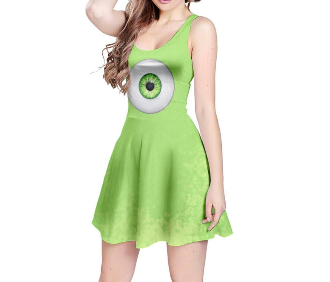 Mike Wazowski Monsters Inc Inspired Sleeveless Dress