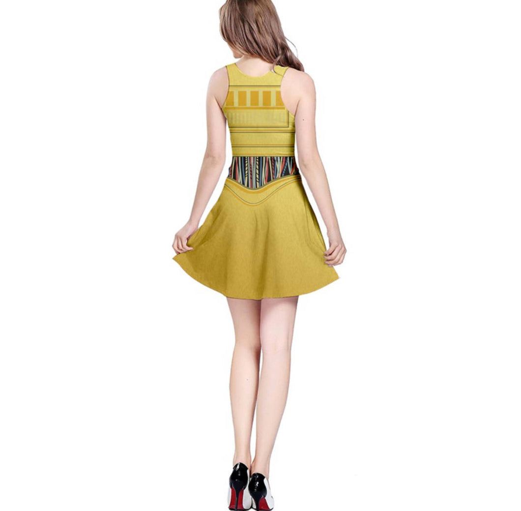 C3PO Star Wars Inspired Sleeveless Dress – Kawaiian Pizza Apparel 33516ae3f394
