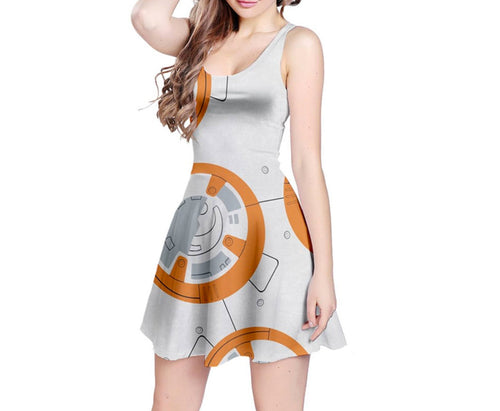 BB-8 Star Wars Inspired Sleeveless Dress