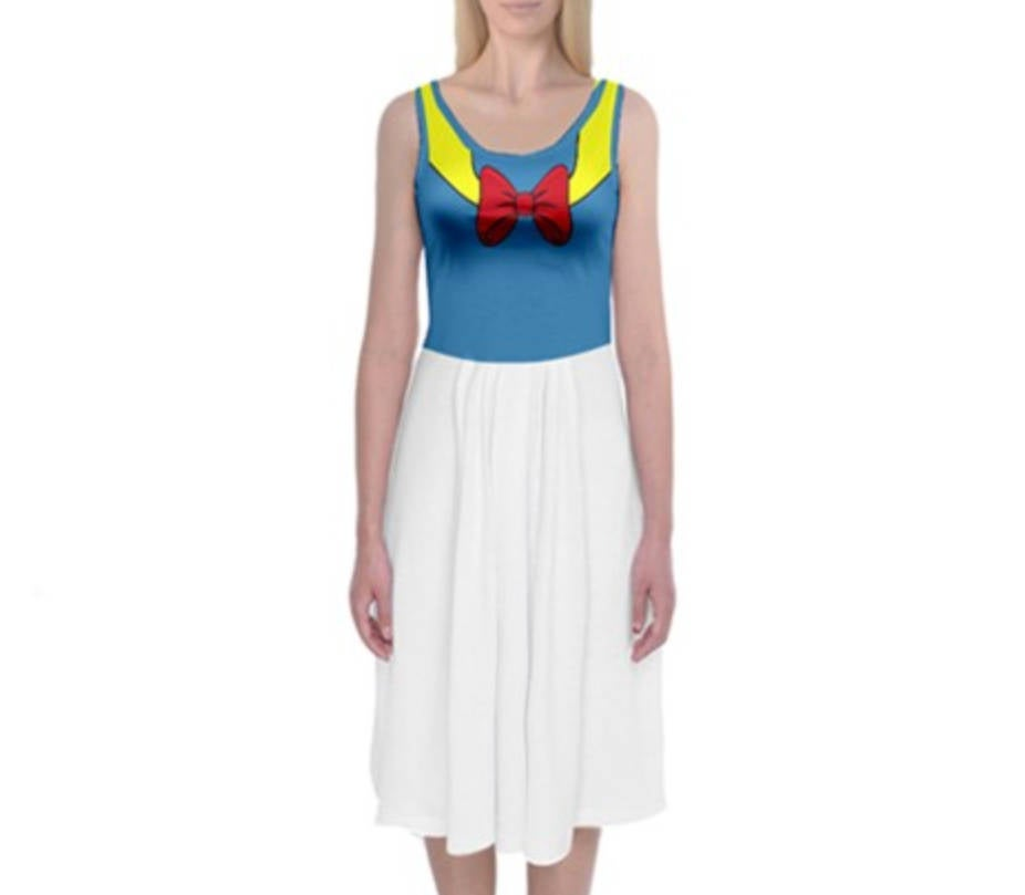 Donald Duck Inspired Tank Midi Dress