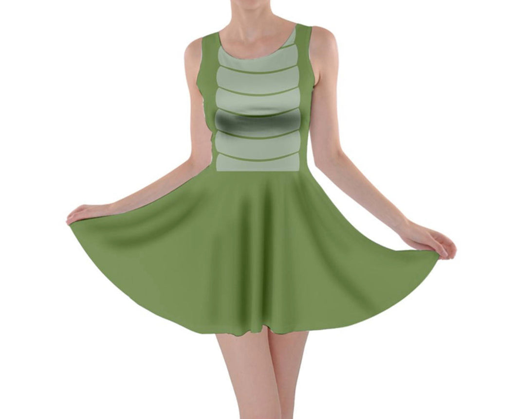 Peter Pan Tick Tock Crocodile Inspired Skater Dress