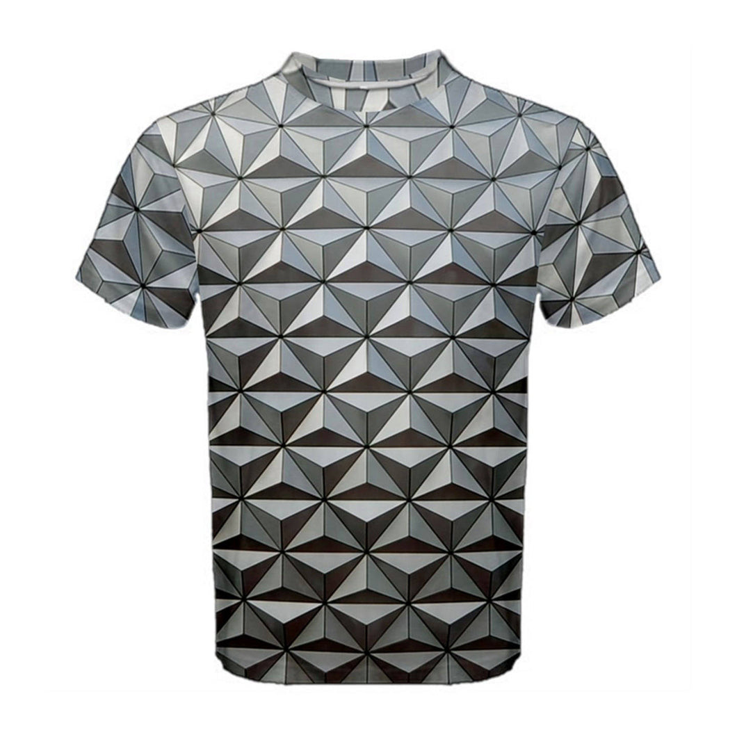 Men's Spaceship Earth Epcot Inspired ATHLETIC Shirt