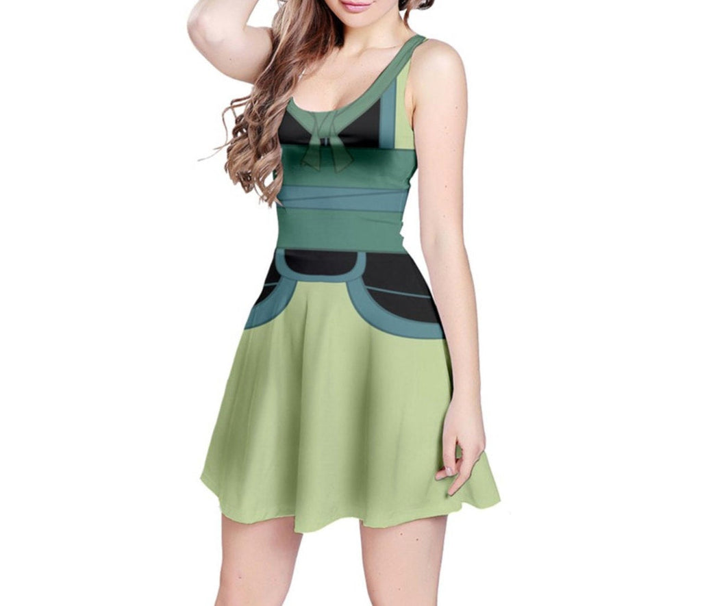 Ping Mulan Inspired Sleeveless Dress