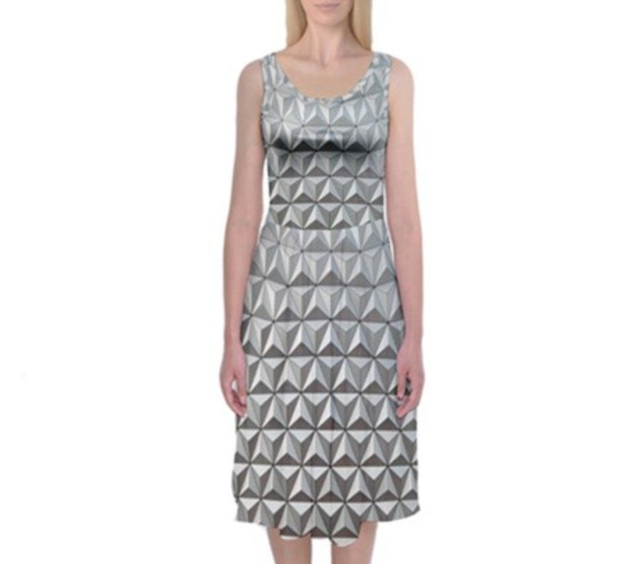 Epcot Spaceship Earth Inspired Tank Midi Dress