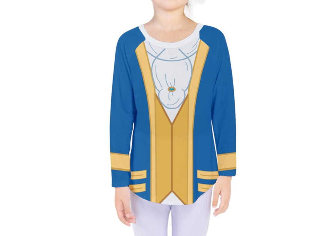 Kid's Beast Beauty and the Beast Inspired Long Sleeve Shirt