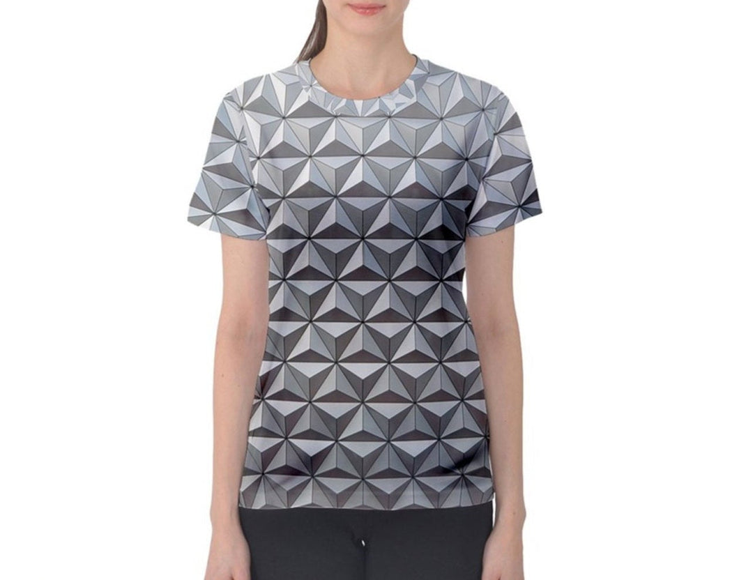 Women's Spaceship Earth Epcot Inspired ATHLETIC Shirt