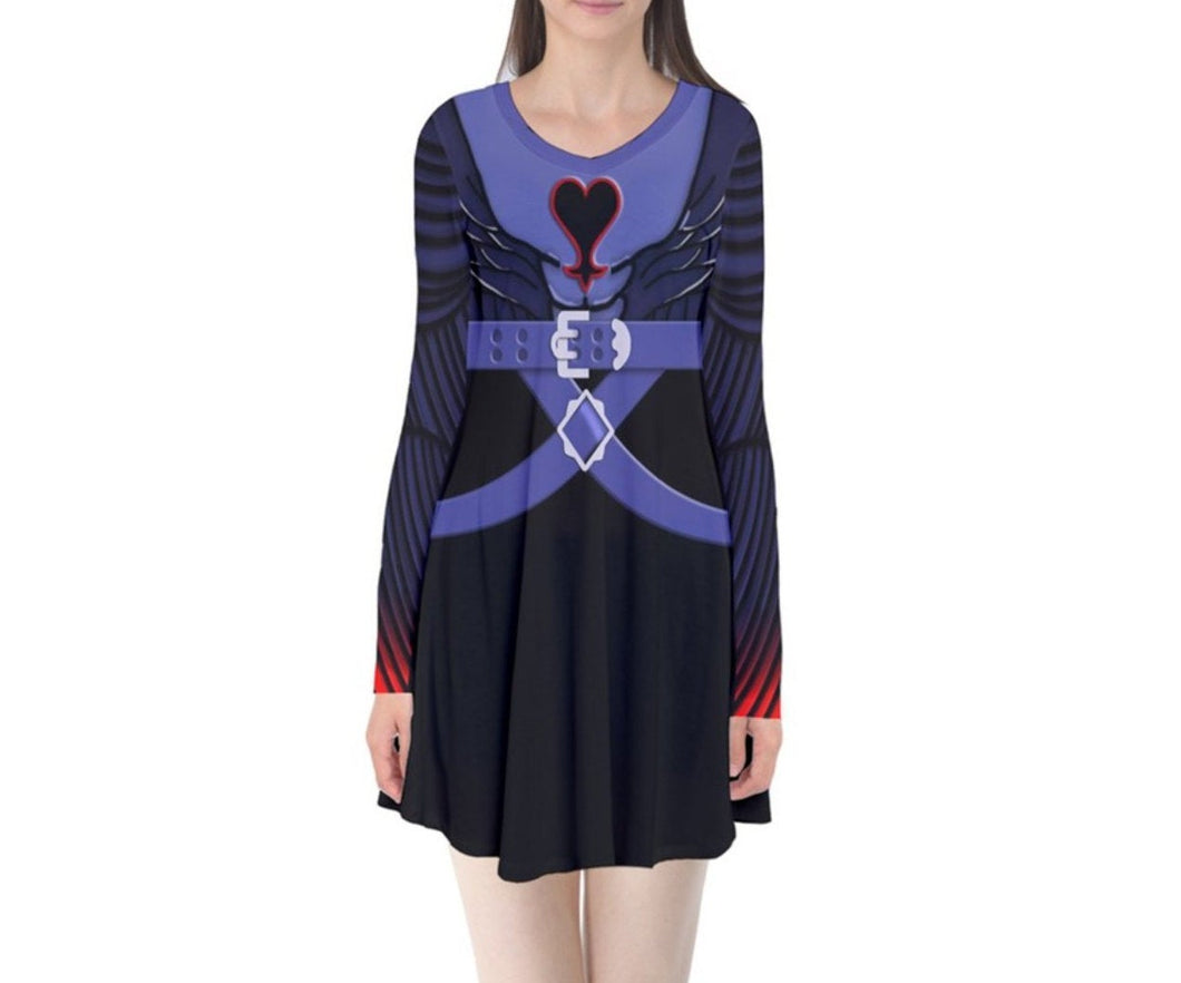Riku Kingdom Hearts Inspired Long Sleeve Flare Dress
