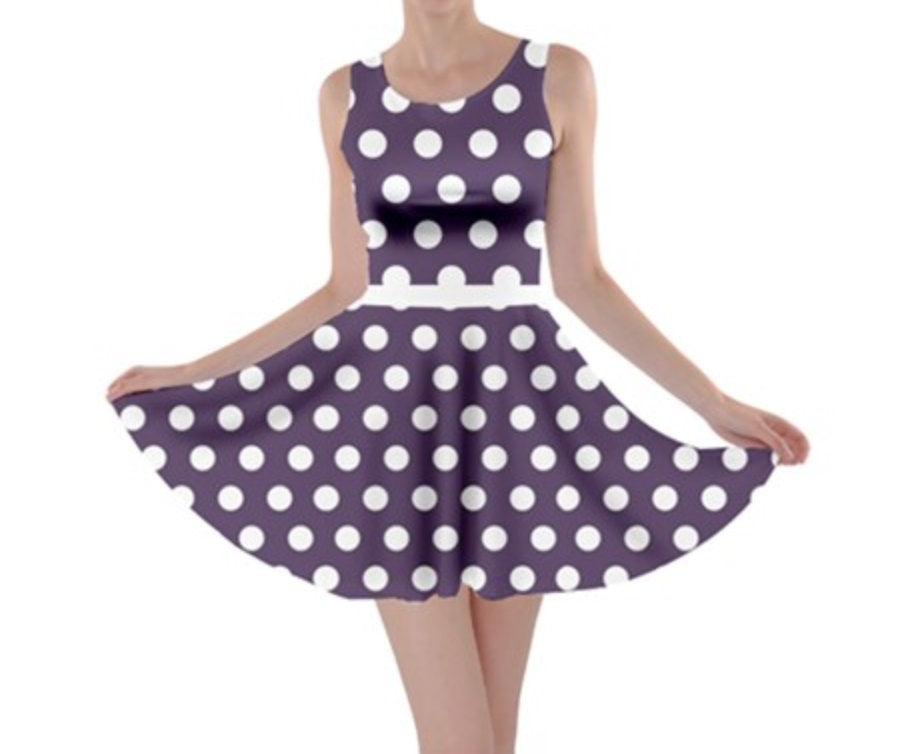 Minnie Purple Inspired Skater Dress