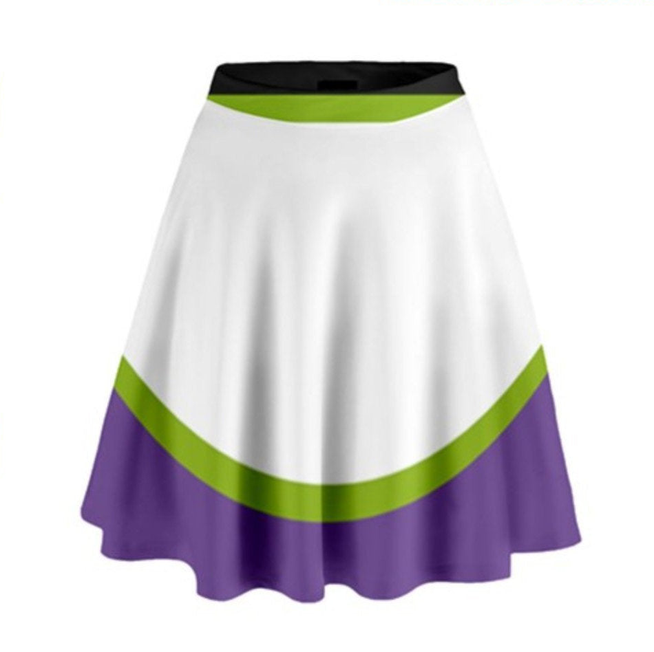 Buzz Lightyear Toy Story Inspired High Waisted Skirt