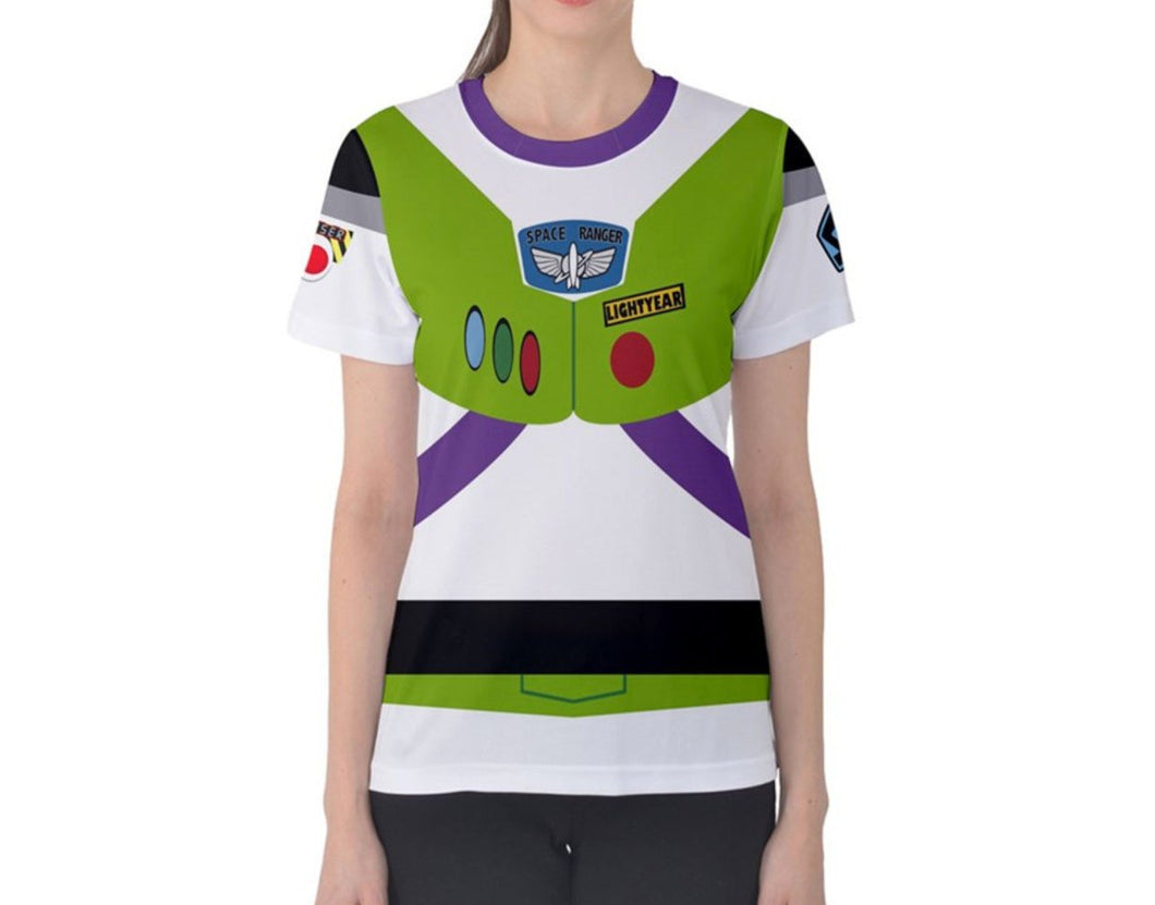 Women's Buzz Lightyear Toy Story Inspired ATHLETIC Shirt