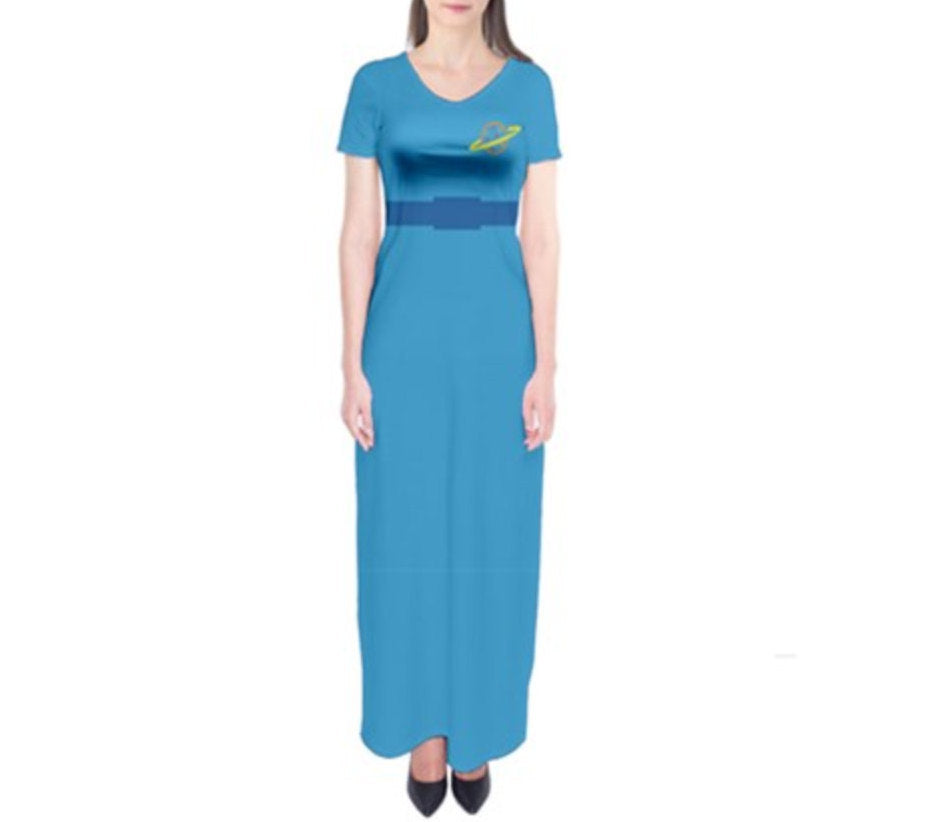 Alien Toy Story Inspired Short Sleeve Maxi Dress
