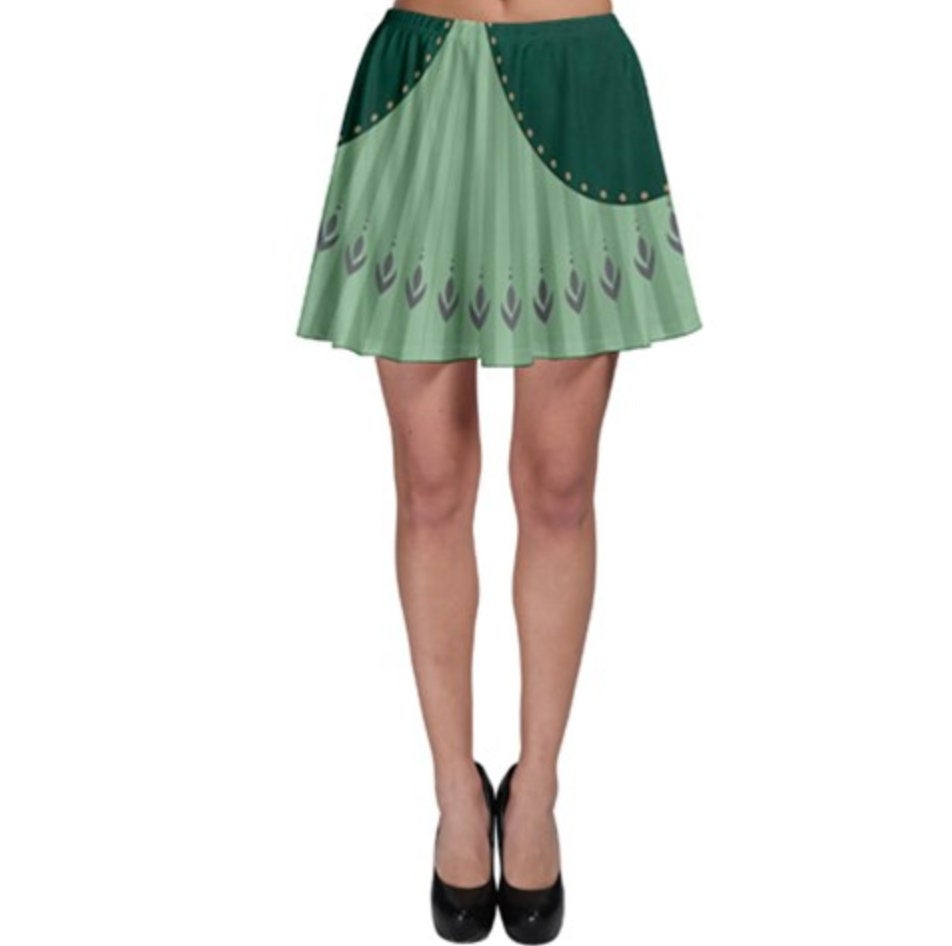 Queen Anna Frozen 2 Inspired Skater Skirt