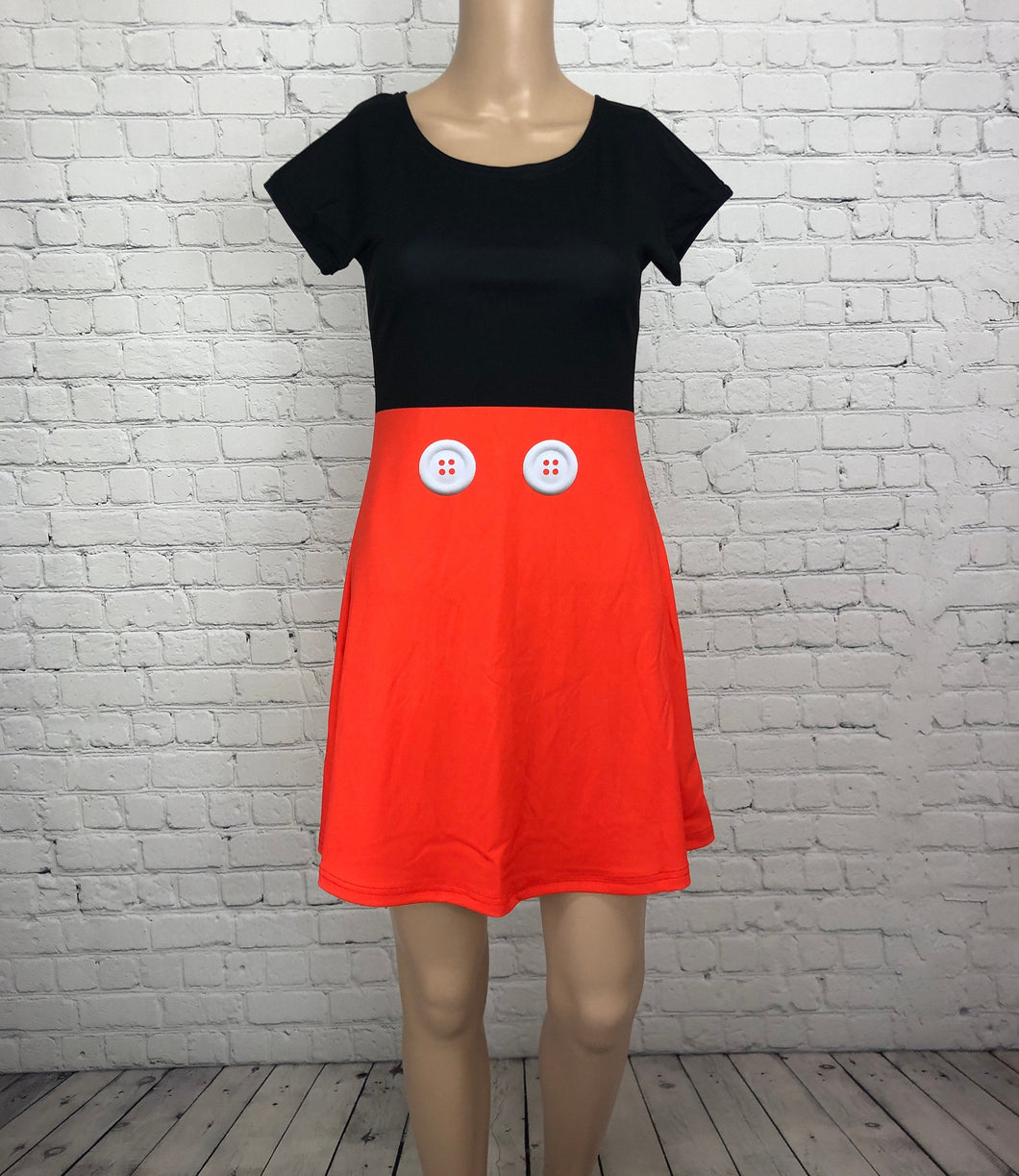 Mickey Inspired Short Sleeve Skater Dress