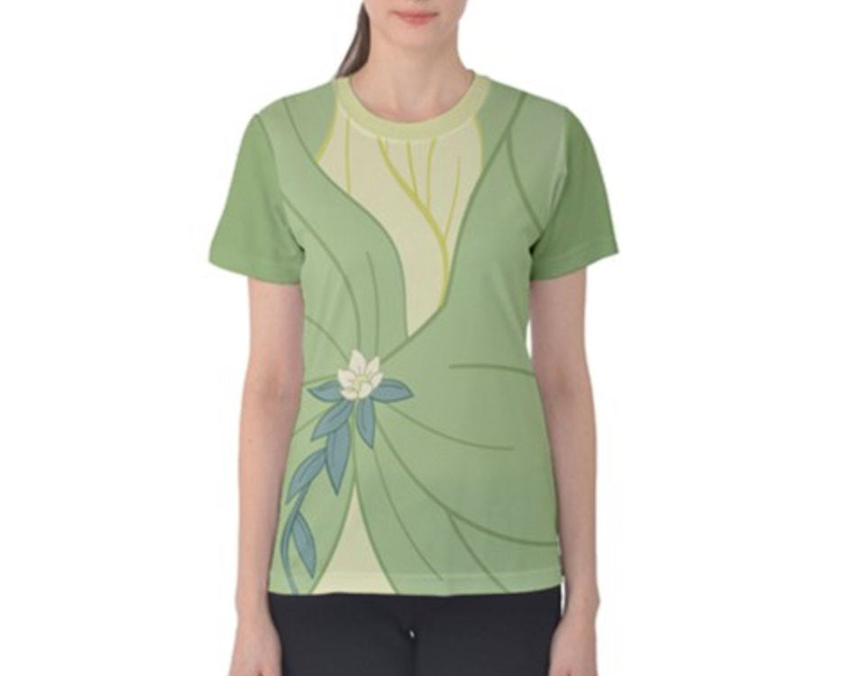 Women's Tiana Princess and the Frog Inspired ATHLETIC Shirt