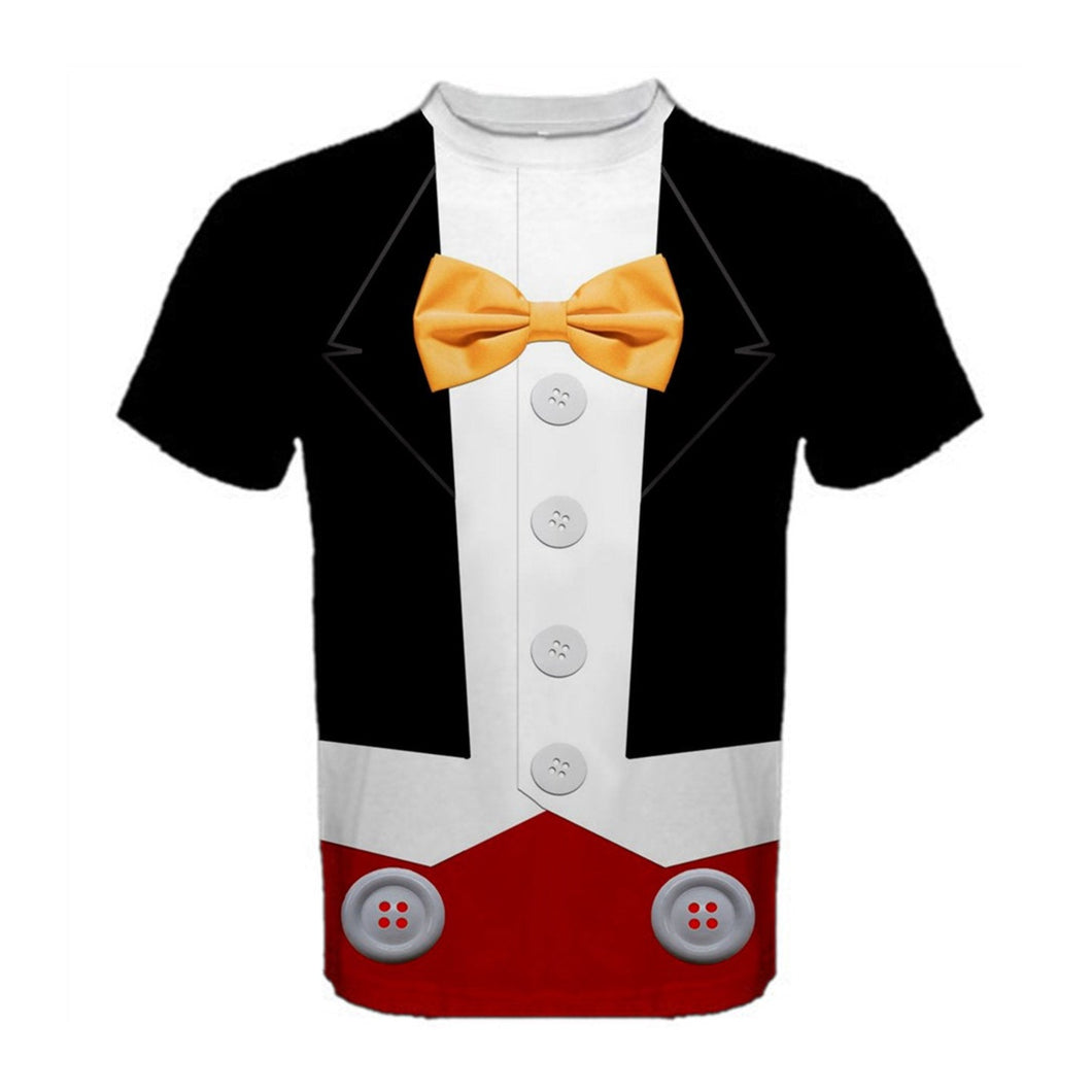 Men's Tuxedo Mickey Inspired ATHLETIC Shirt