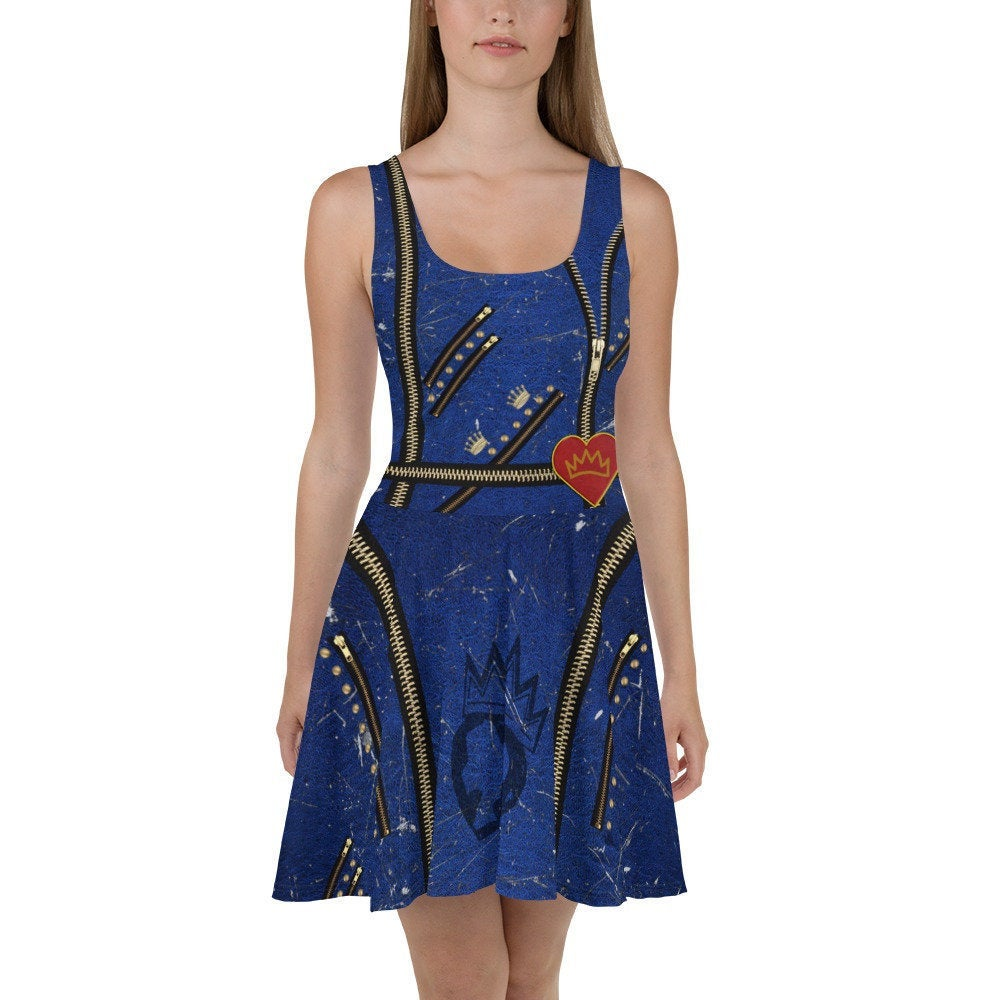 Women's Evie Descendants Inspired Skater Dress