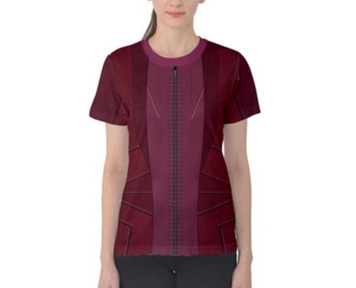 Women's Wanda Scarlet Witch Inspired ATHLETIC Shirt