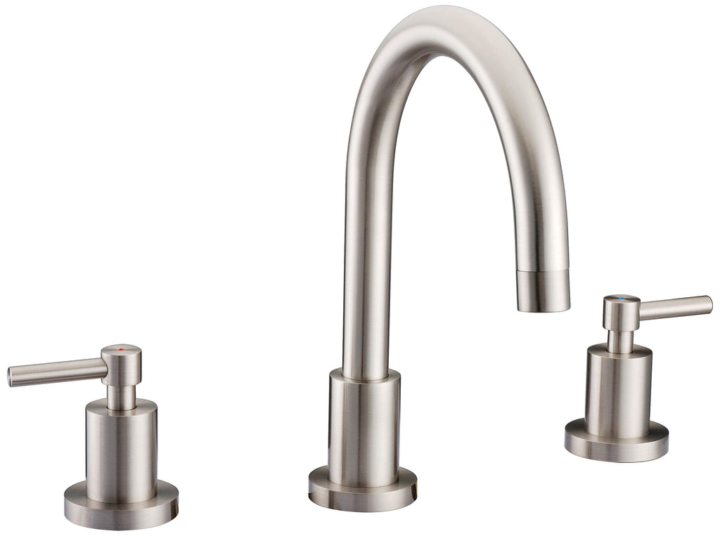 Three Holes Two Handle Widespread Bathroom Sink Faucet OAF 9200- 6AN ...