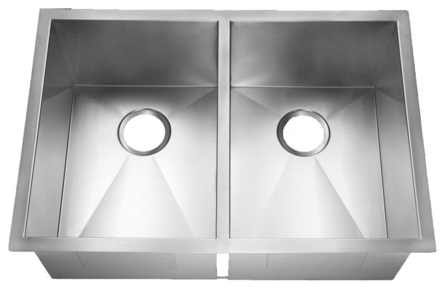 Stainless Steel Handmade Kitchen Sink OACS 2920AO 50/50 Double bowl ...