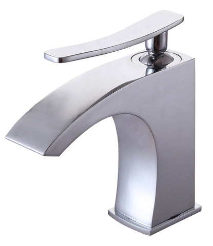 One Hole Single Handle Widespread Bathroom Sink Faucet 0B 1427E1C in Chrome