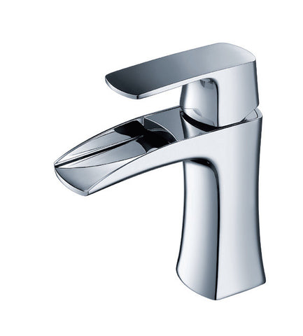 One Hole Single Handle Widespread Bathroom Sink Faucet 0B 450Z1C in Chrome