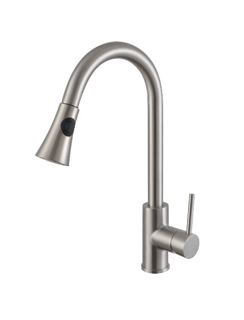 handles kitchen nickel brass pn side faucet faucets lever bridge bellevue polished with sprayer