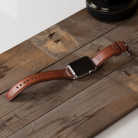 Heritage Leather Watch Band for Apple Watch in Cognac