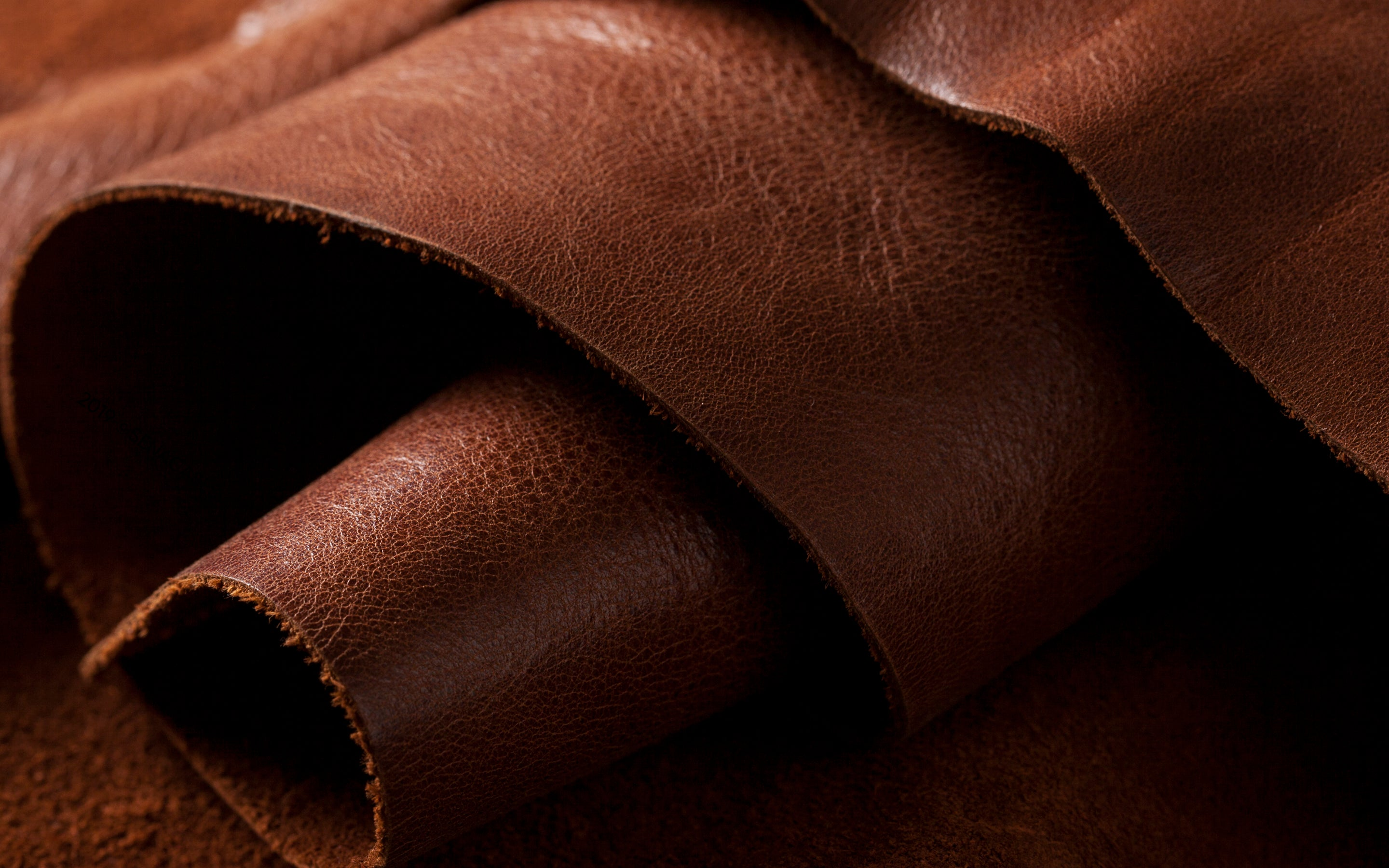 Brown Leather Roll Wallpaper for Desktop