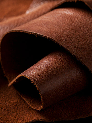 Brown Leather Roll Wallpaper For Tablets