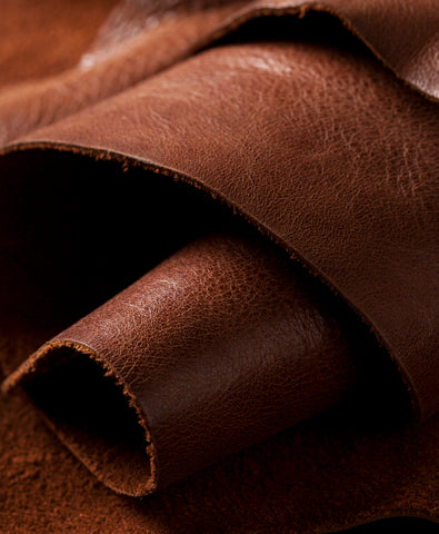Brown Leather Roll Wallpaper for Smart Watches