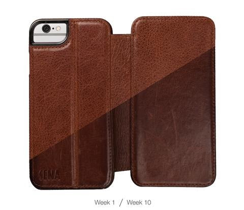brown leather cell phone case