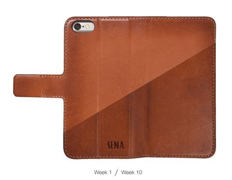 burnished brown leather