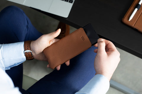UltraSlim Leather Sleeve for Samsung S10 | SENA Cases