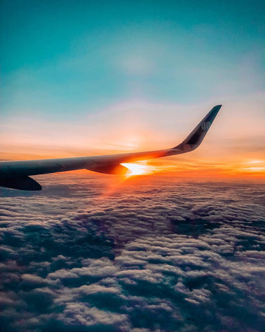 Shot of Sunset From Inside an Airplane By Instagram User Mohitvaru