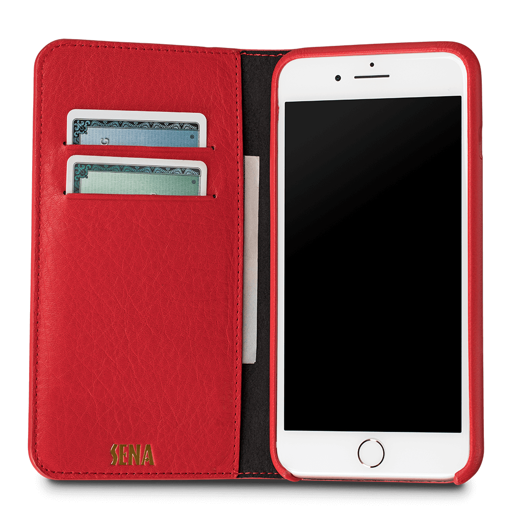 Isa Quilted Wallet Leather Case for iPhone 6s Plus, 6 Plus