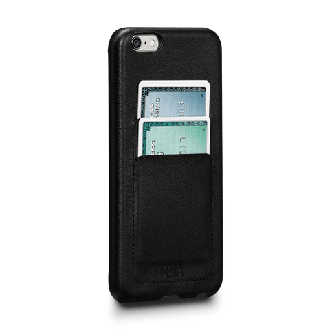 Leather Wrapped Snap On Wallet for iPhone 6 Plus