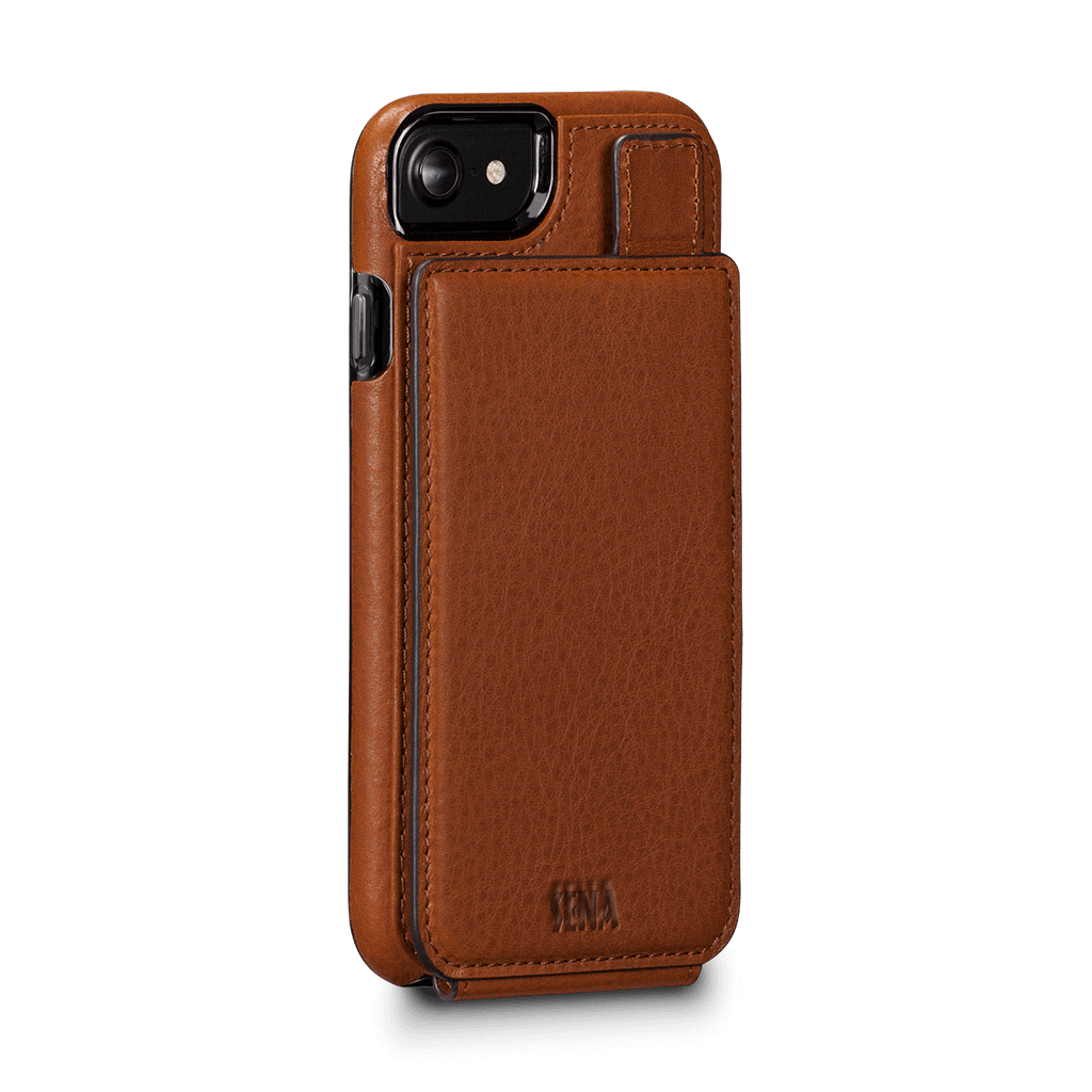 WalletSkin Leather Wallet Case iPhone 8 - 7 Tan SFD30802GBUS-50R