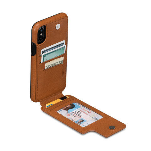WalletSkin Leather Wallet Case for iPhone X