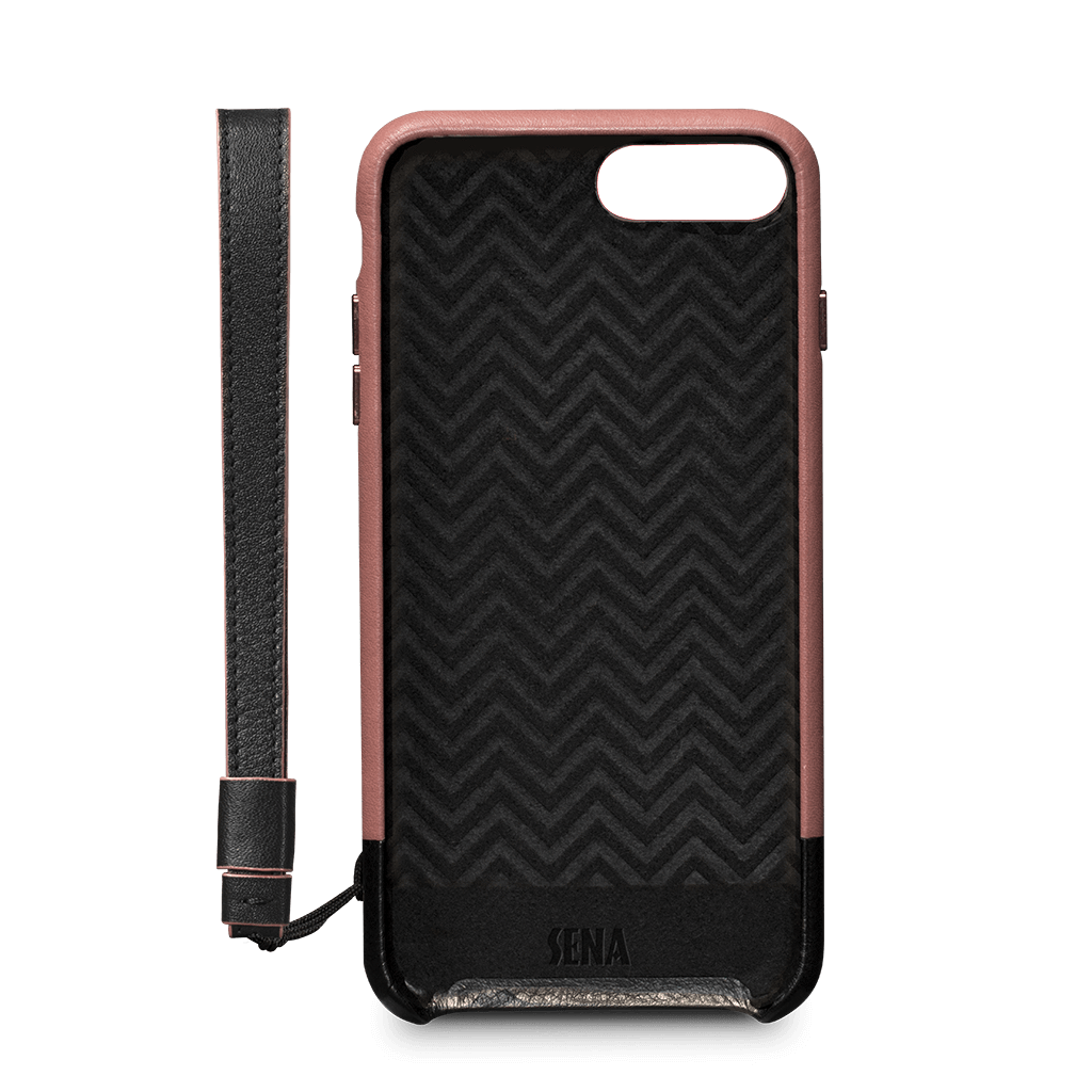 Arri Wristlet Leather Snap On Case for iPhone 8, 7