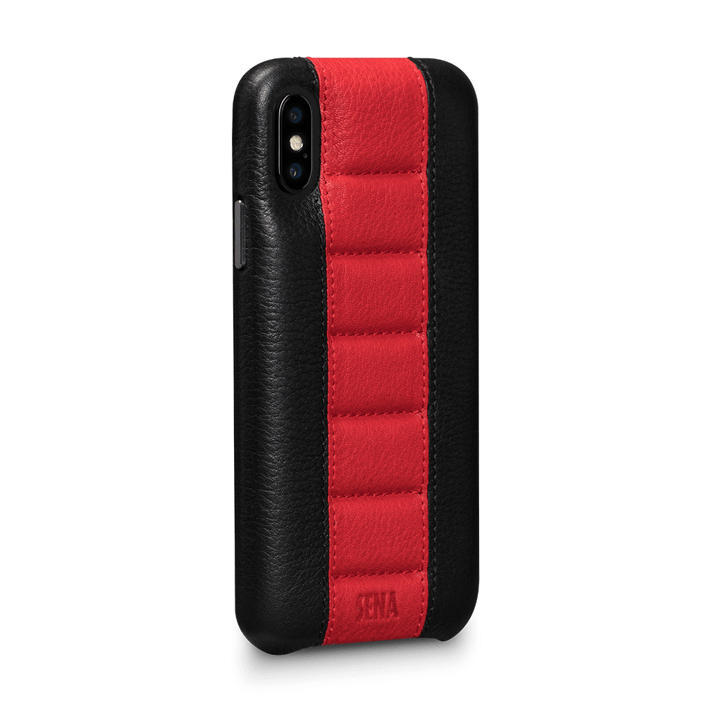 Racer Snap On Leather Case for iPhone X or XS