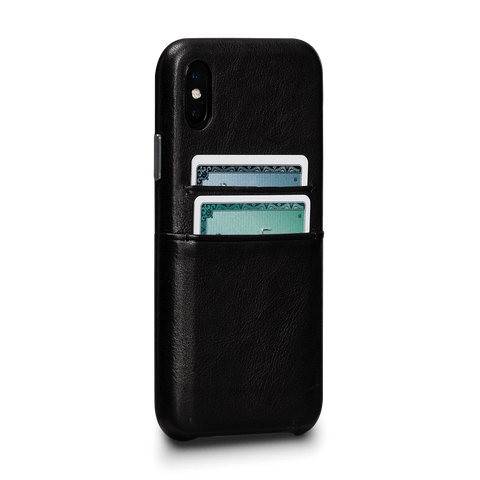 Deen Leather Snap On Wallet Case for iPhone XS
