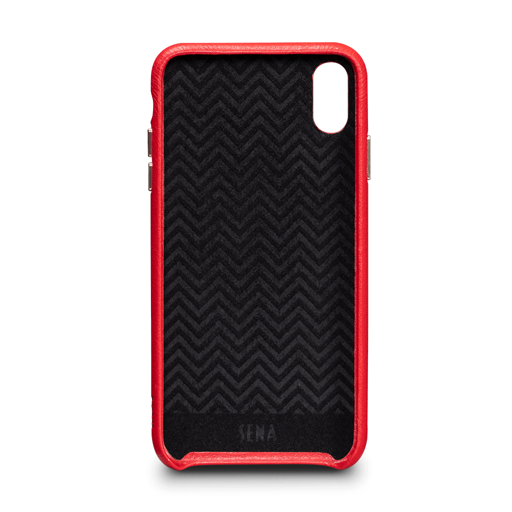 Kyla Leatherskin Snap On Case for iPhone XS