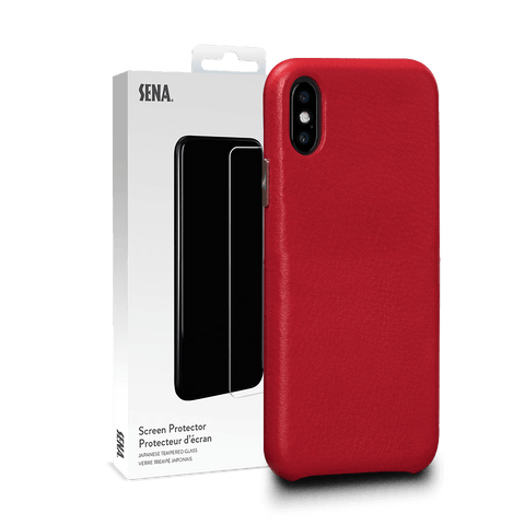 Kyla Leatherskin Snap On Case for iPhone XS Max Screen Protector Bundle