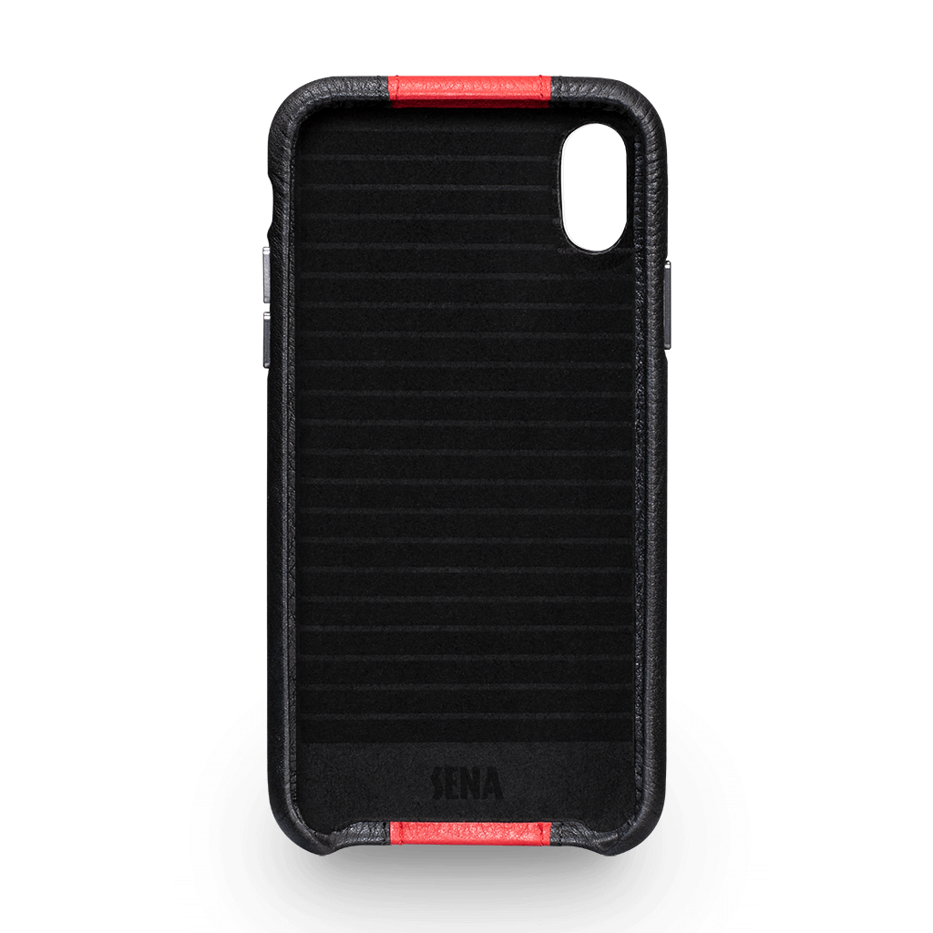 Racer Z Leather Snap On Case for iPhone X and XS