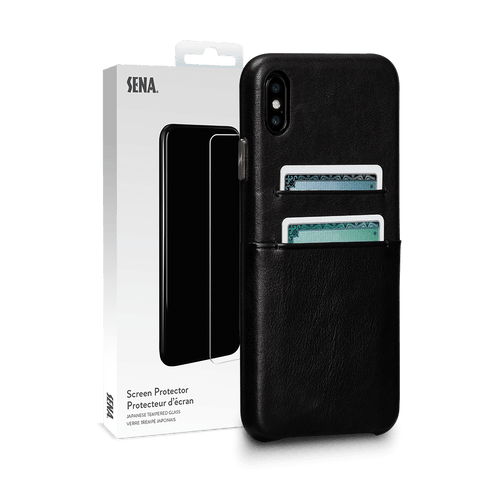 Kyla Leather Snap On Wallet Case for iPhone XS Max  Screen Protector Bundle