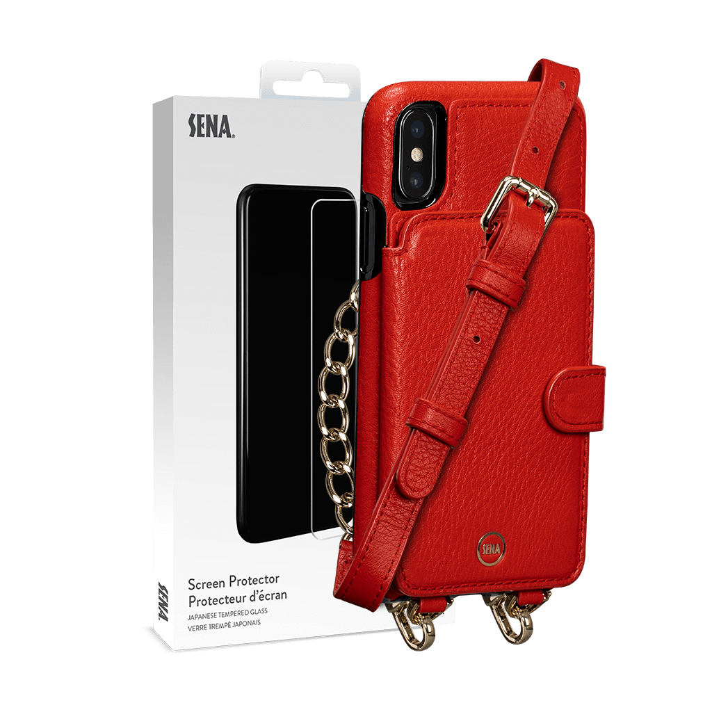 Kyla Crossbody Snap On Case for iPhone XS Max Screen Protector Bundle