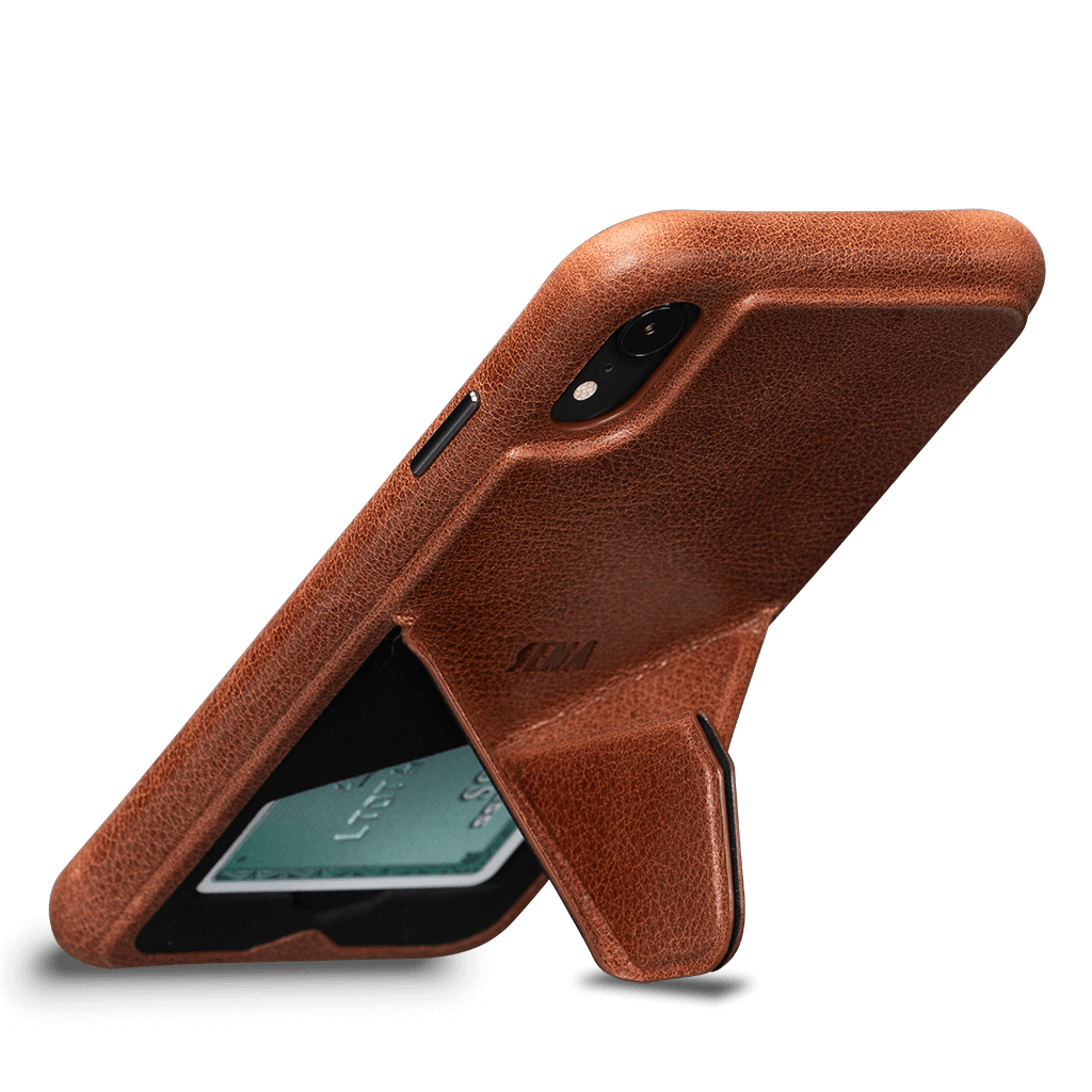 Vista Leather Case with Stand for iPhone XR