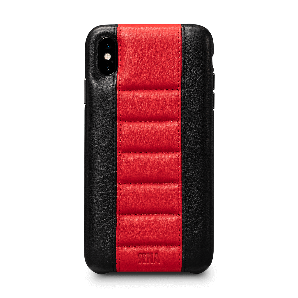 Racer Z Leather Snap On Case for iPhone XS Max Screen Protector Bundle