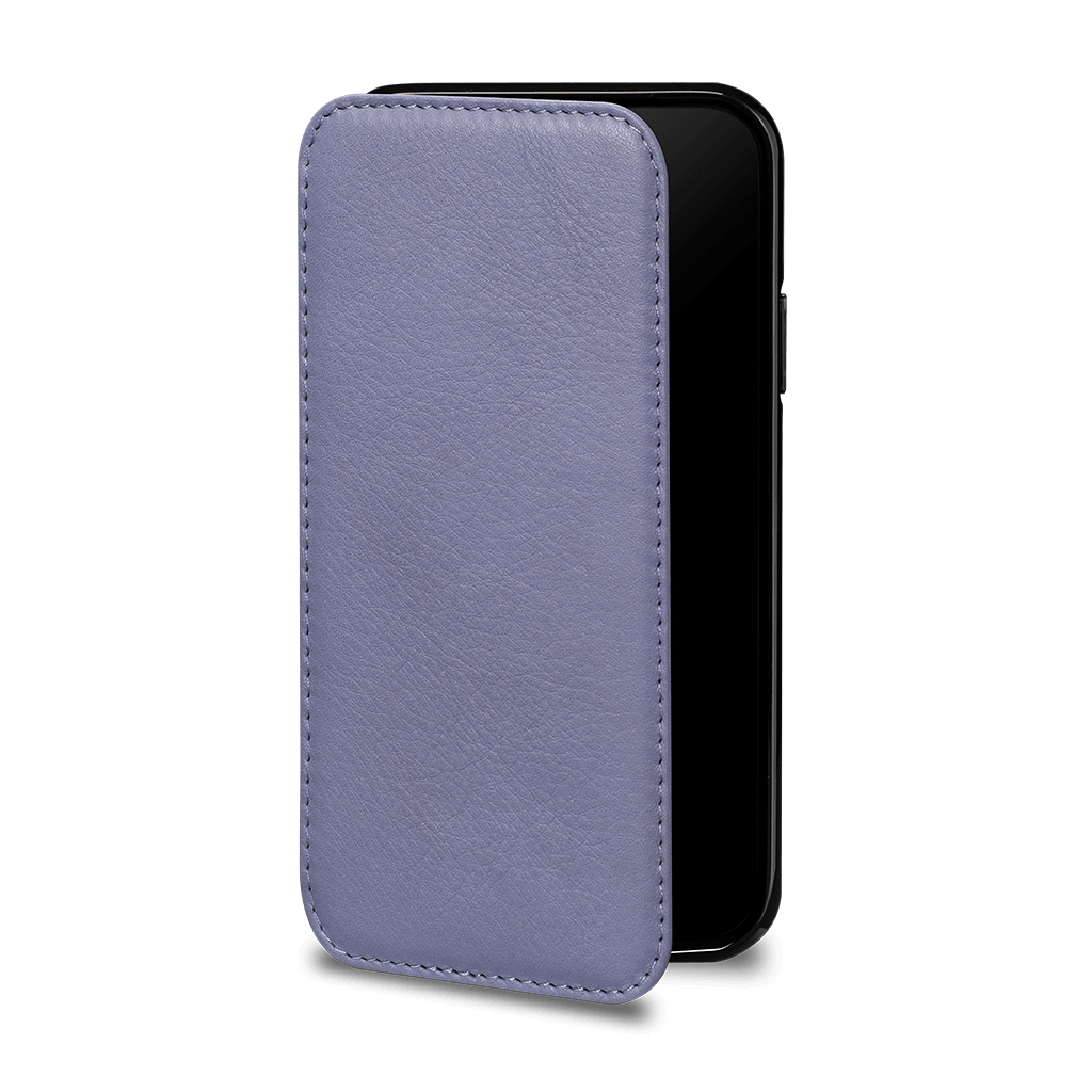 Wallet Book Case for iPhone 11 (Black/Periwinkle)