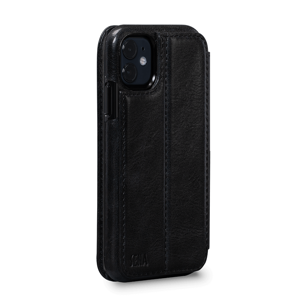 Wallet Book Case for iPhone 11 (Black)